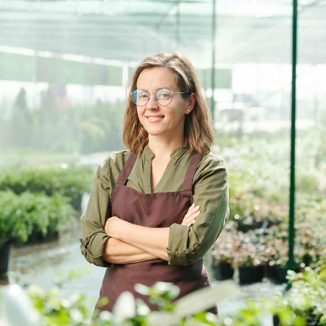 Aussie greenhouse garden small business owner
