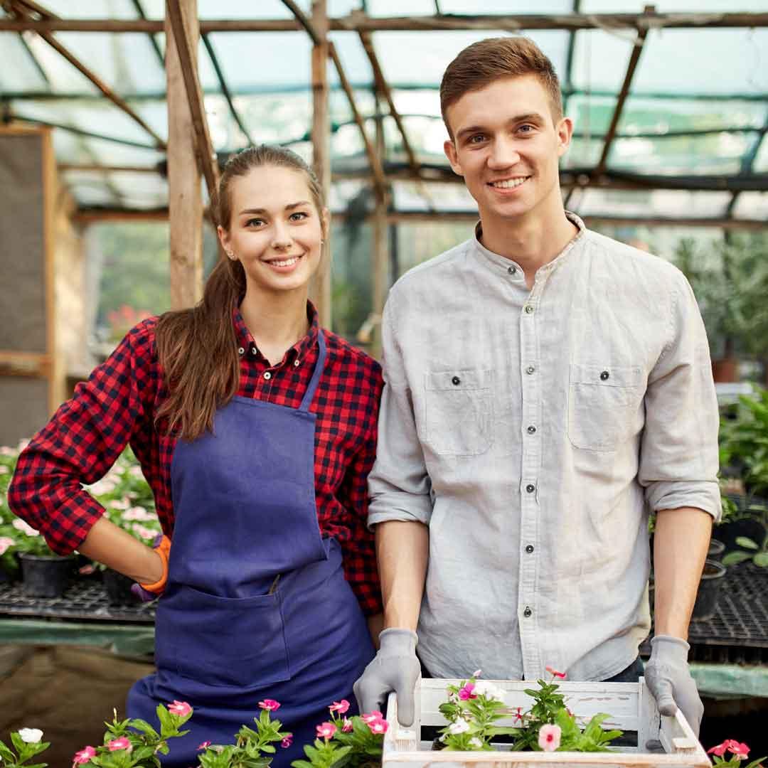 An Aussie gardening couple